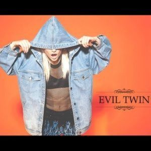 Evil Twin Hooded Oversized Acid Wash Denim Jacket